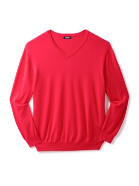Kingsize Men's Big & Tall Pima V-neck Sweater