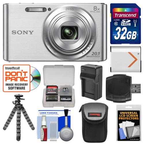 Sony Cyber Shot Dsc W830 Digital Camera Silver With 32gb