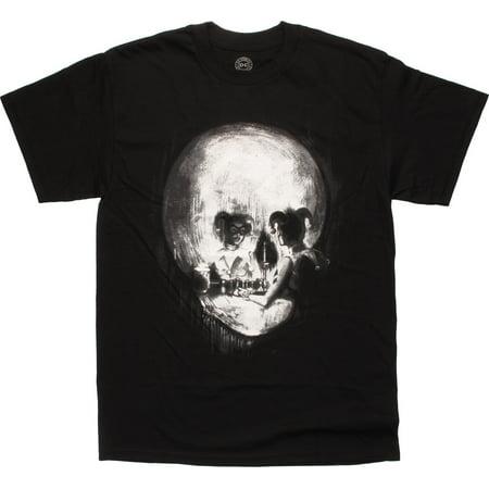 Harley Quinn Mirror Reflection Skull T-Shirt