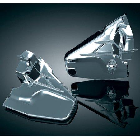 Chrome Transmission Cover (Kuryakyn  Louvered Chrome Transmission Covers for GL1800 Gold Wing)