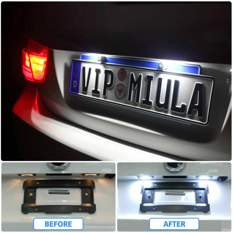Pair LED License Number Plate Light Fit Vauxhall Opel Corsa C D Astra H Insignia