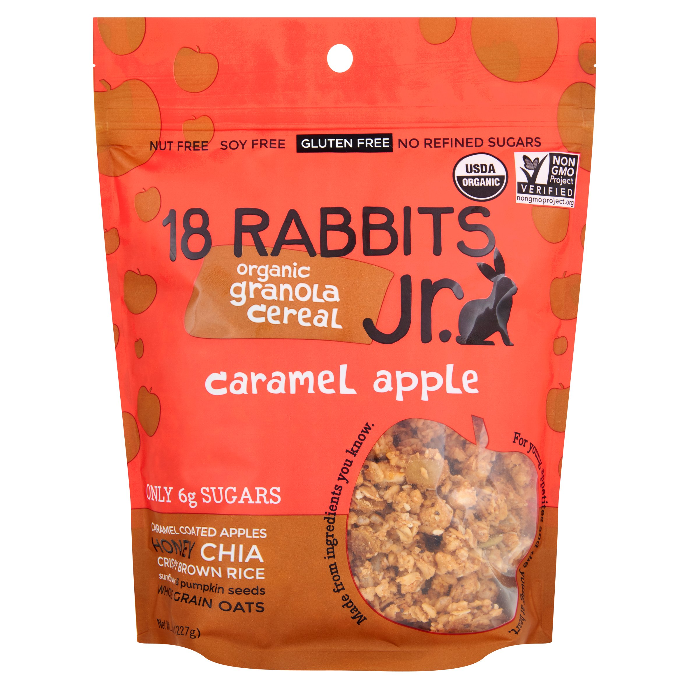Image of 18 Rabbits, Cereal Caramel Aple Granola, 8 Oz (Pack Of 6)
