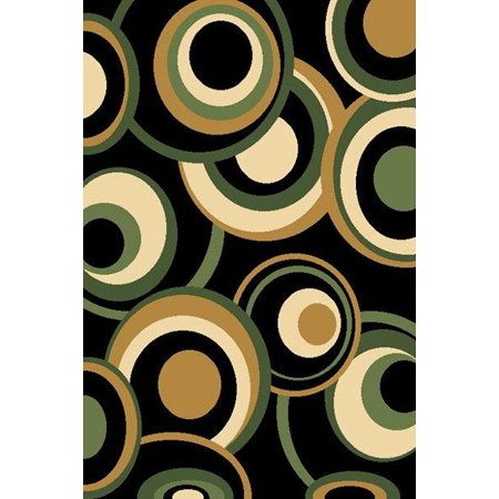 BELLA Modern Contemporary 5x8 5x7 Rug Abstract Area Rug 271 Green Dark Green Contemporary Rug