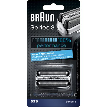 Braun Shaver Replacement Part 32 S Silver - Compatible with Series 3 - Shaver Replacement