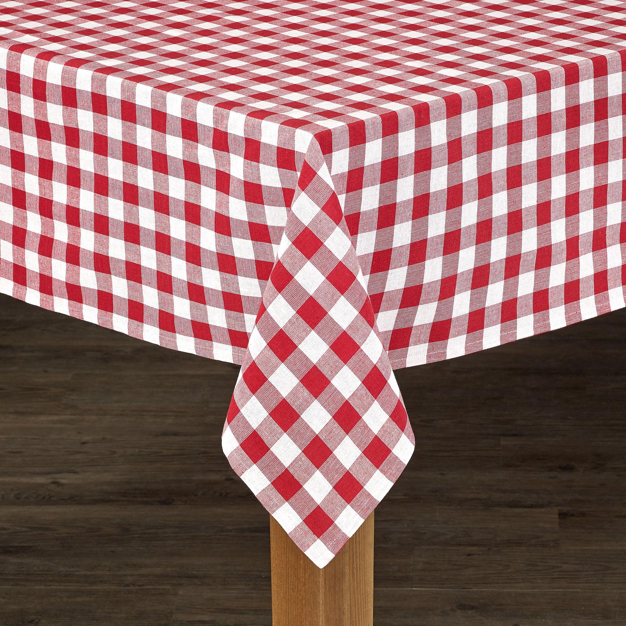 "Red Buffalo Check 100% Cotton Tablecloth 52""X52"" by Lintex Linens"