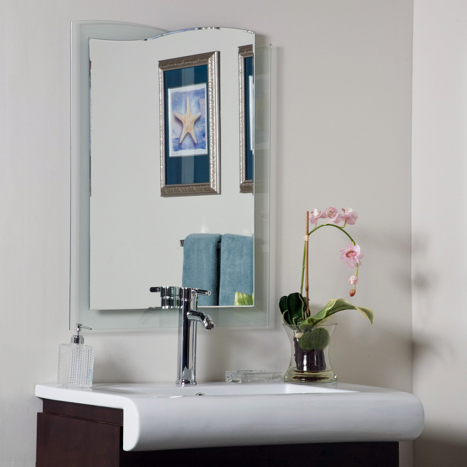 Décor Wonderland Tula Modern Frameless Bathroom Mirror 23.6W x 31.5H in. by Decor Wonderland