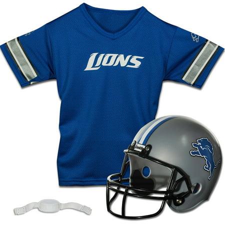 Detroit Lions Franklin Sports Youth Helmet and Jersey Set - No Size Detroit Lions Youth Uniform