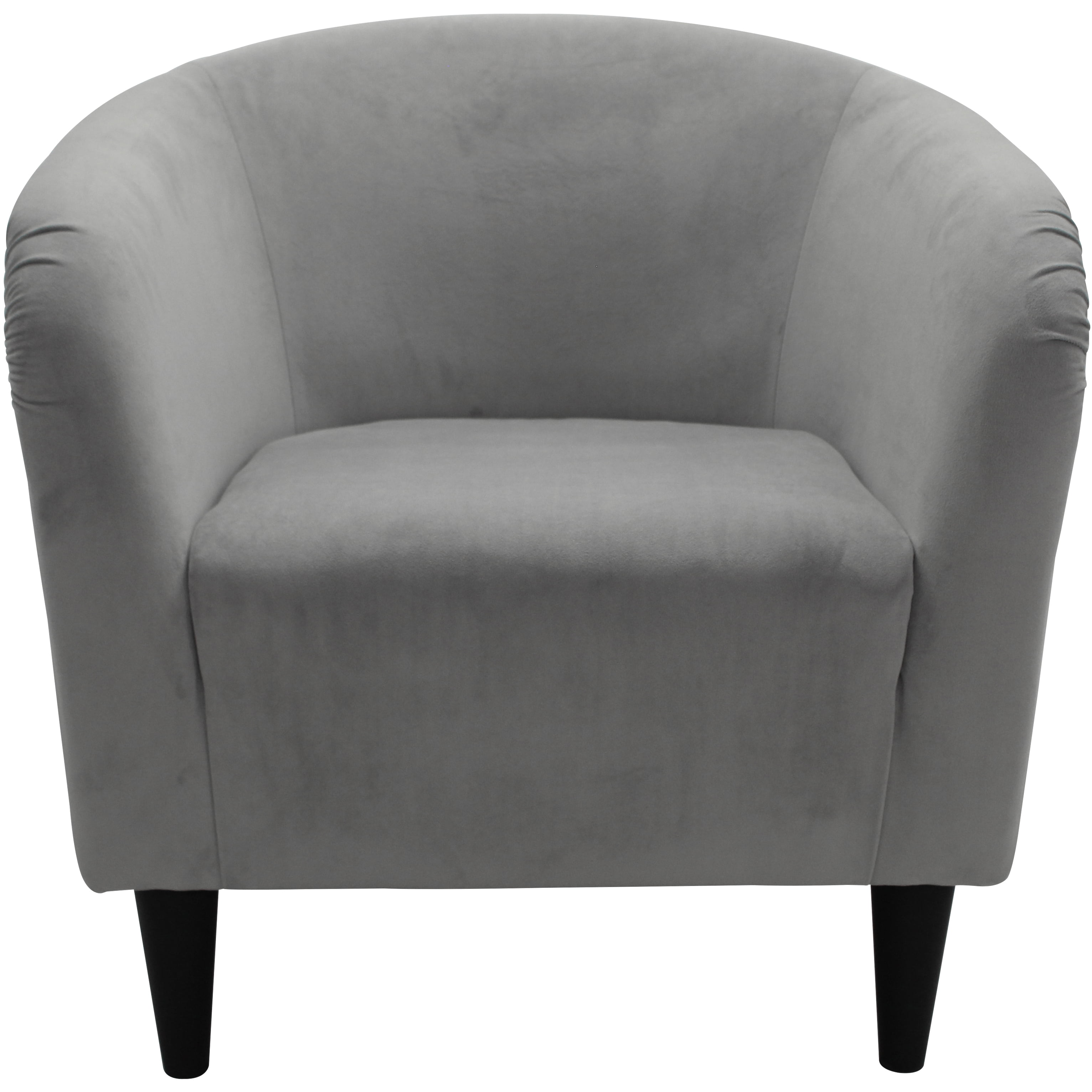 Awesome Details About Tub Accent Chair Dove Gray Microfiber Upholstery Padded Seat Living Furniture Ncnpc Chair Design For Home Ncnpcorg