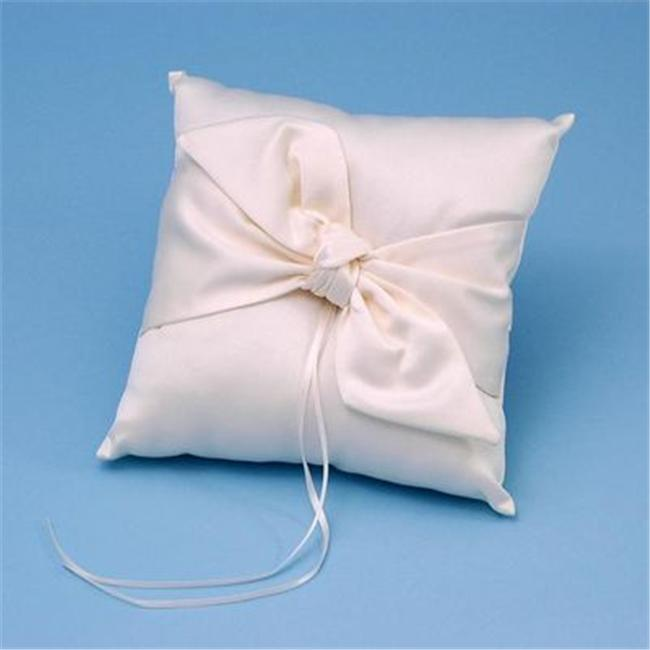 Beverly Clark 92BI Love Knot Ring Pillow - Ivory