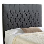 Mozaic Company Humble + Haute Halifax Charcoal Tall Queen Diamond Tufted Upholstered Headboard