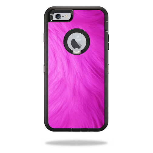 MightySkins Protective Vinyl Skin Decal Cover for OtterBox Defender iPhone 6/6S Plus Case Cover Sticker Skins Pink Fur