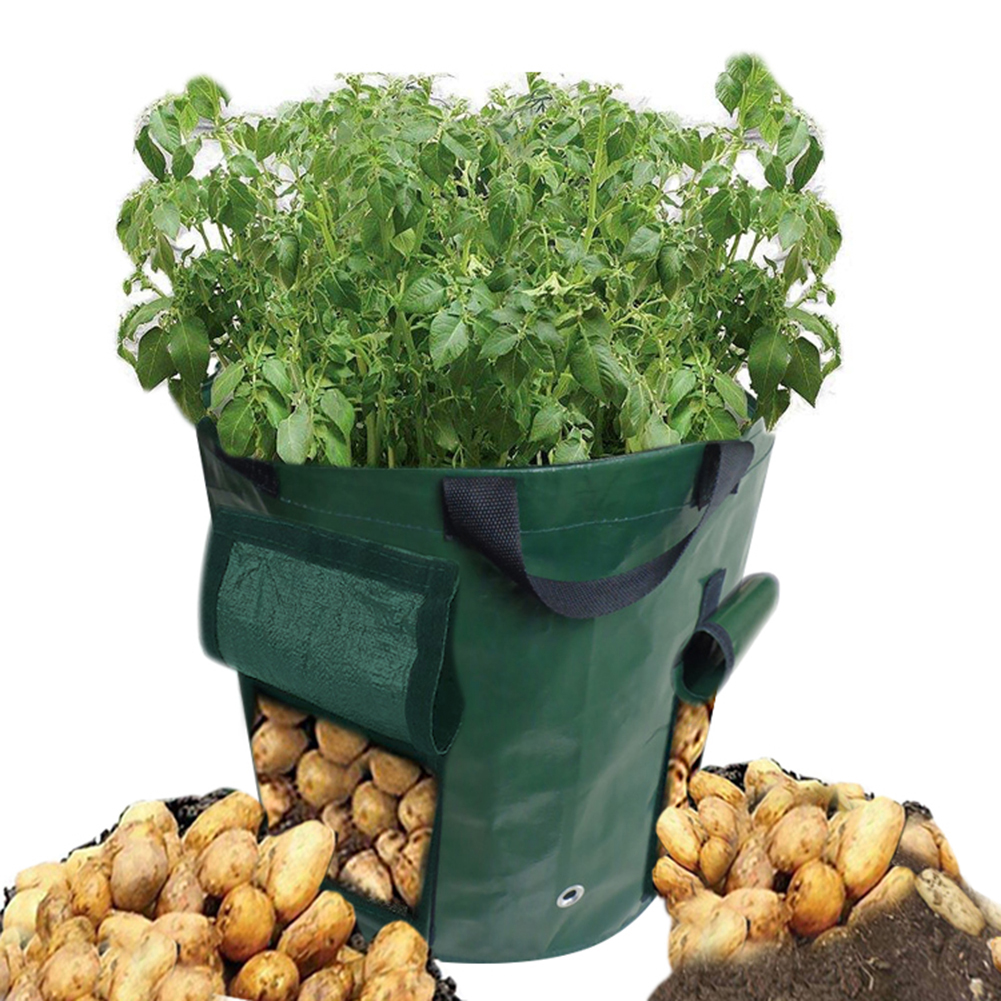 15 Gallon Garden Potato Grow Bag Vegetables Planter with 2 Access Flap for Harvesting