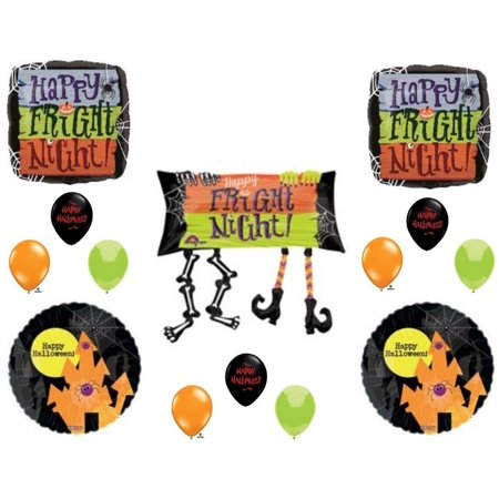 HALLOWEEN FRIGHT NIGHT Party Balloons Decoration Supplies Trick Or Treat Haunted House - Halloween Treats Decorations