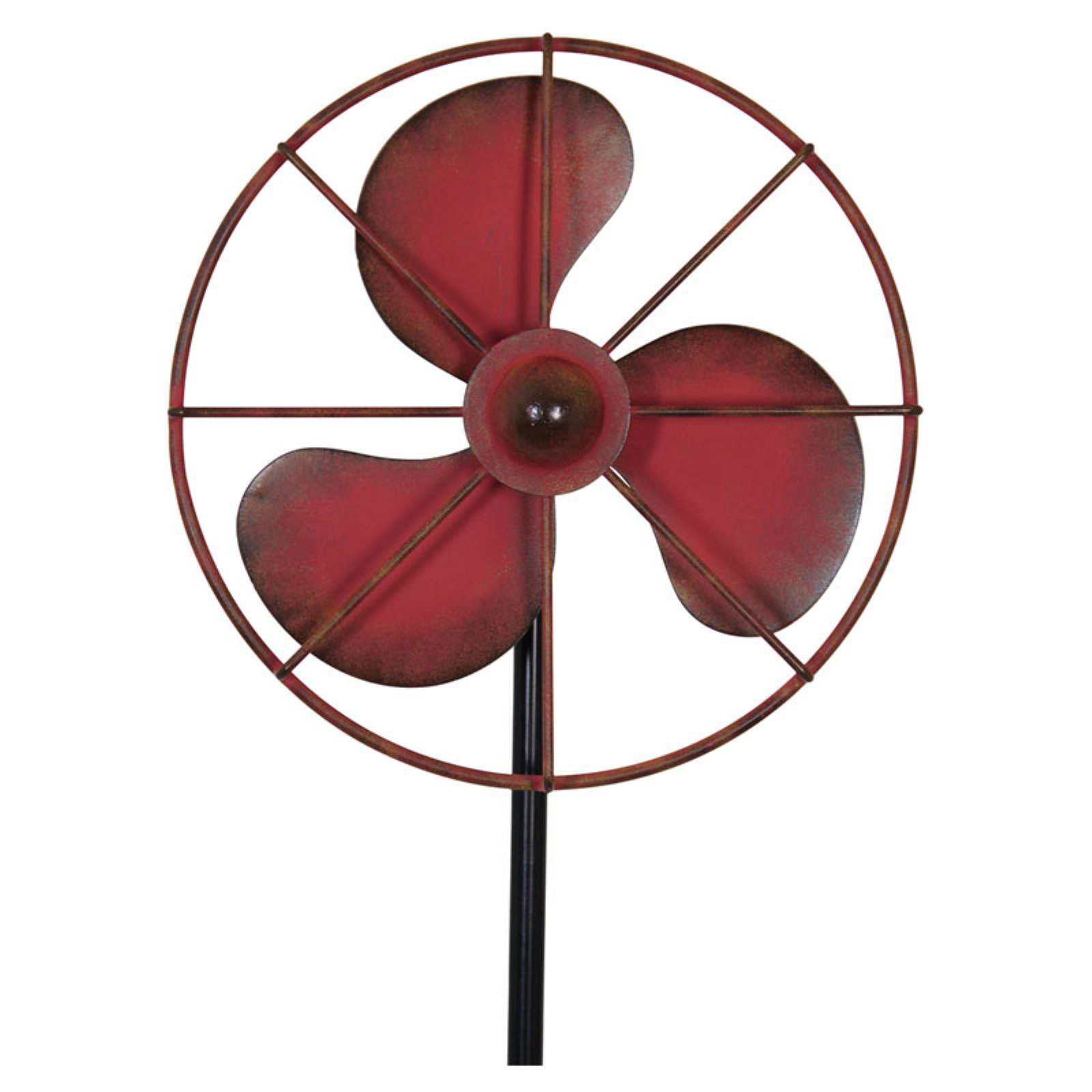 Exhart Vintage Kinetic Fan Garden Stake