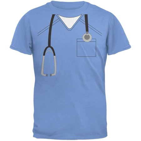 Halloween Doctor Scrubs Costume Carolina Blue Youth T-Shirt