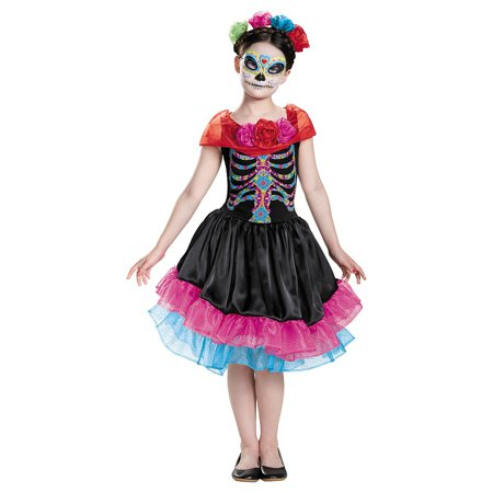 Day of the Dead Child Costume - Large](Party City Day Of The Dead Costume)