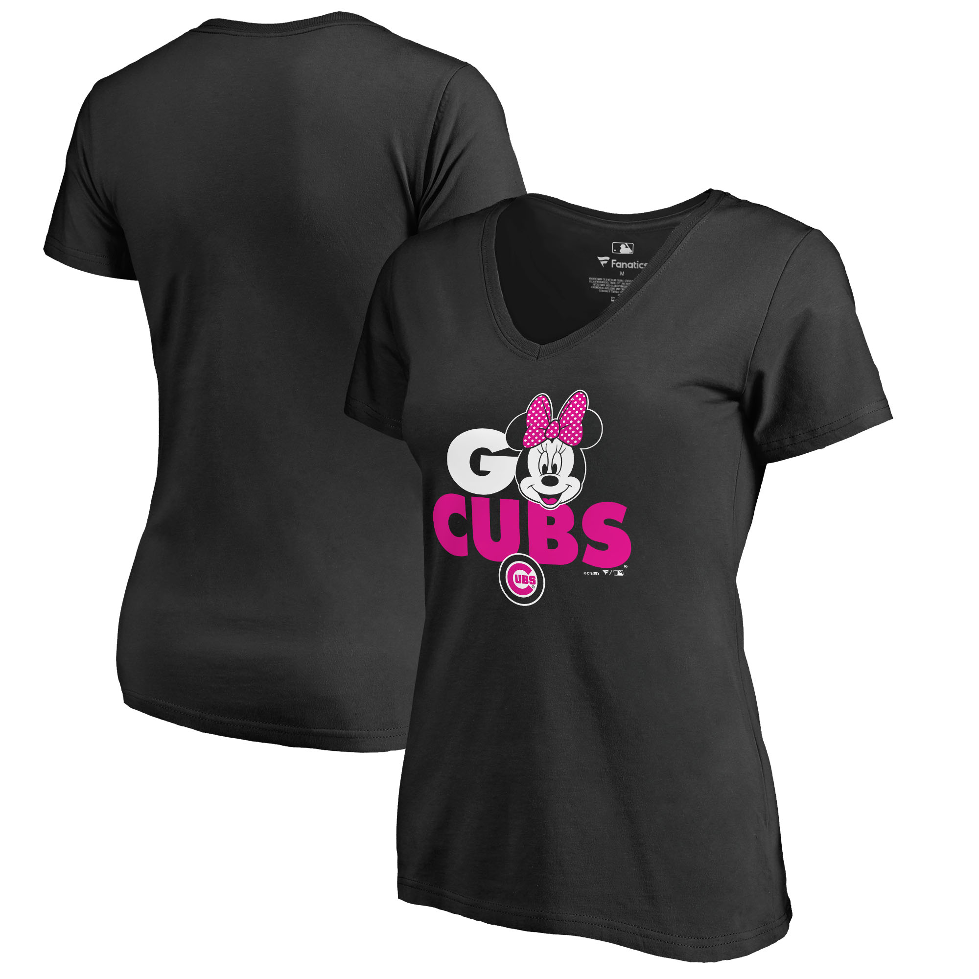 Chicago Cubs Fanatics Branded Women's Disney Rally Cry Minnie T-Shirt - Black