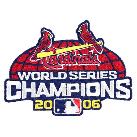2006 St Louis Cardinals MLB World Series Jersey Patch 10TH Championship Logo