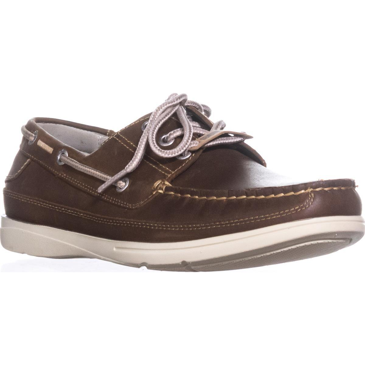 Womens Dockers Midship Men's Lace Up Boat Shoes, Dark Tan by Dockers