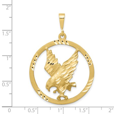 10K Yellow Gold EAGLE IN A FRAME CHARM - image 1 de 2