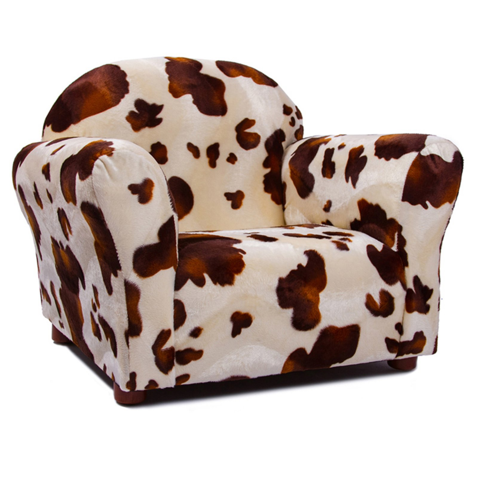 Keep Roundy Pony Print Faux Fur Kids Chair