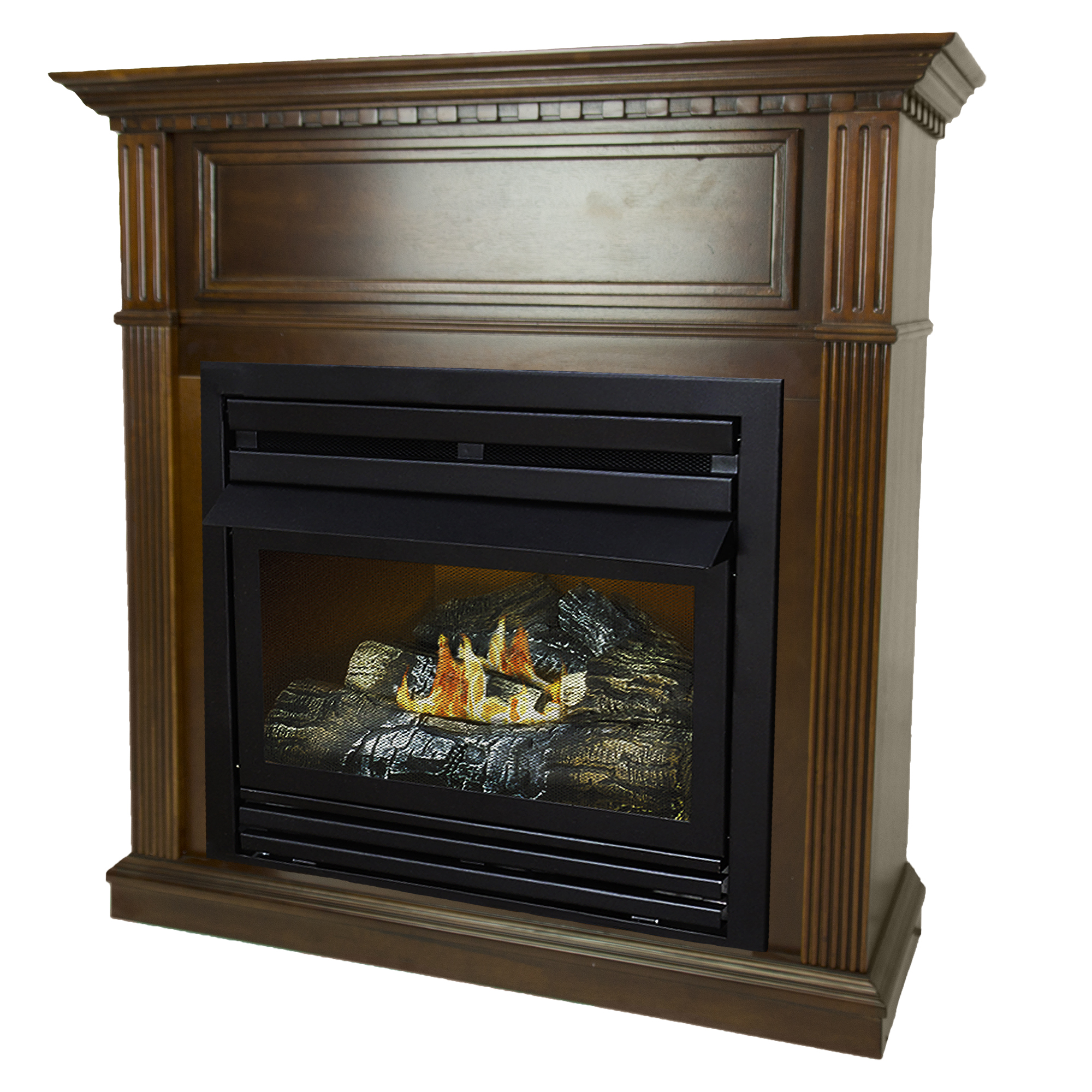 Pleasant Hearth 42 in. Liquid Propane Intermediate Cherry Vent Free Fireplace System... by GHP Group, Inc.