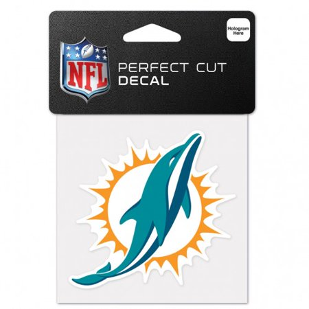 (Miami Dolphins Perfect Cut Color Decal 4