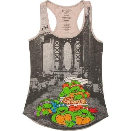 Ninja Turtles City Tank Top Juniors T-Shirt (Ninja Turtle T Shirt)