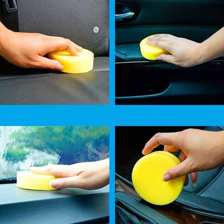 Car Waxing Sponge Round Small Sponge Polishing Sponge Car Wash Sponge - image 6 de 9