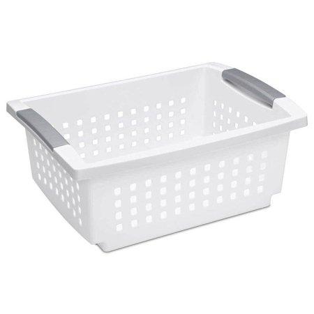 Sterilite Large Ultra Storage Organizer Basket (6 Pack) + Stacking Bins (6 Pack) - image 4 de 11