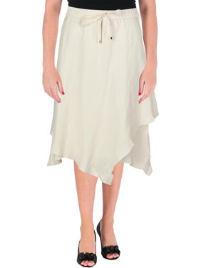 7fb3ad0dca Product Image Lauren Ralph Lauren Womens Oquendo Linen Blend Layered Tiered  Skirt