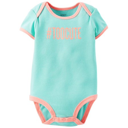 Carters Baby Girls Too Cute Bodysuit