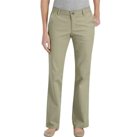 d1ff1961a82 Genuine Dickies - Women s Slim Fit Straight Leg Bootcut Stretch Twill Pants  - Walmart.com