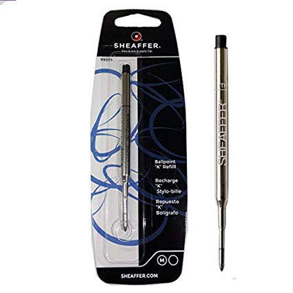 3 PACK - Sheaffer K Ballpoint Pen Refill, Medium Point, Black Ink (SHF99335) by Sheaffer (Pen Ink Sheaffer)