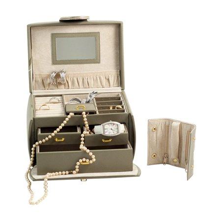 Bey berk olive leather large travel jewelry box for Bey berk jewelry box