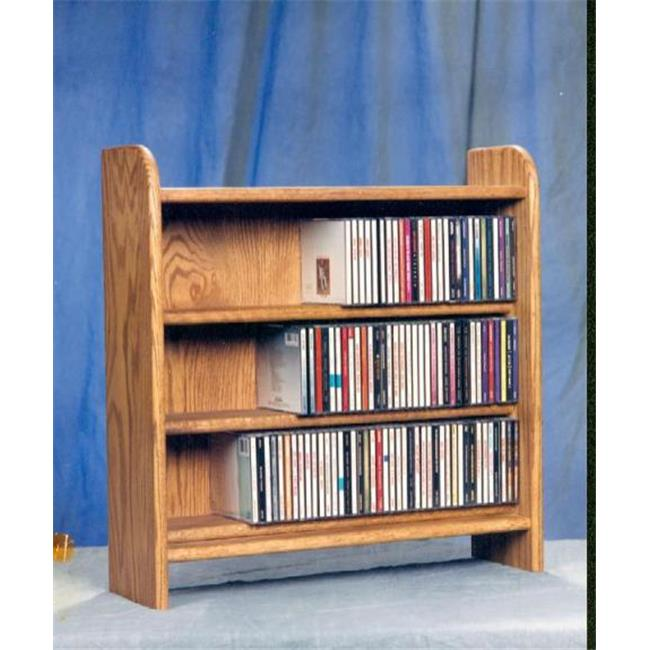 Wood Shed 302 Solid Oak 3 Shelf CD Cabinet