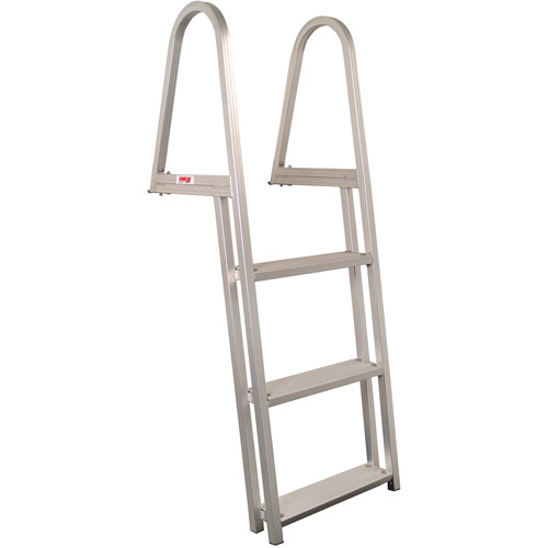 2 Step Stainless Steel Slide Mount Boat Boarding Ladde Telescoping Ladder