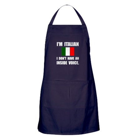 CafePress - Italian Inside Voice - Kitchen Apron with Pockets, Grilling Apron, Baking Apron