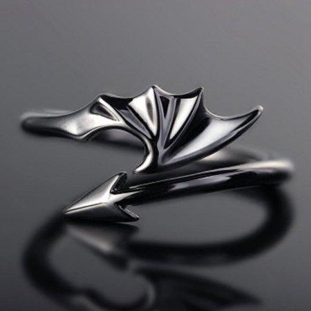 AkoaDa Man Woman Rings Simple Fashion Personality Flowers Of Evil Devil Japan Korea Opening Rings Punk Ring (Japanese Ring)