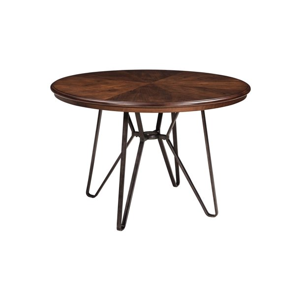 Signature Design By Ashley Casual Centiar Round Dining Room Table - Brown