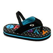Kids Baby Little Kids Girls Toddler Neoprene Sling Flip Flops Summer Shoes (Toddler 9, Blue)