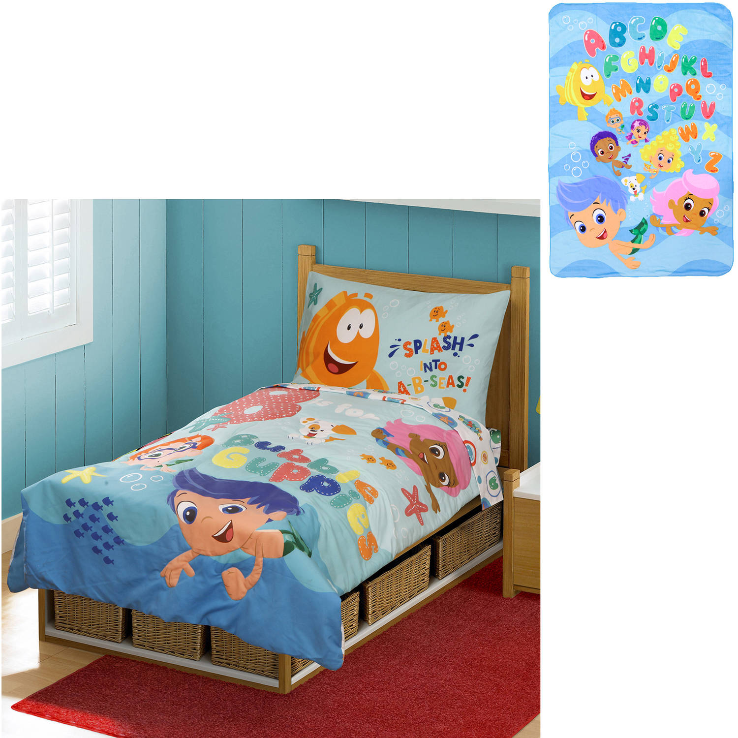 Awesome Bubble Guppies Toddler Bed Set With Bonu