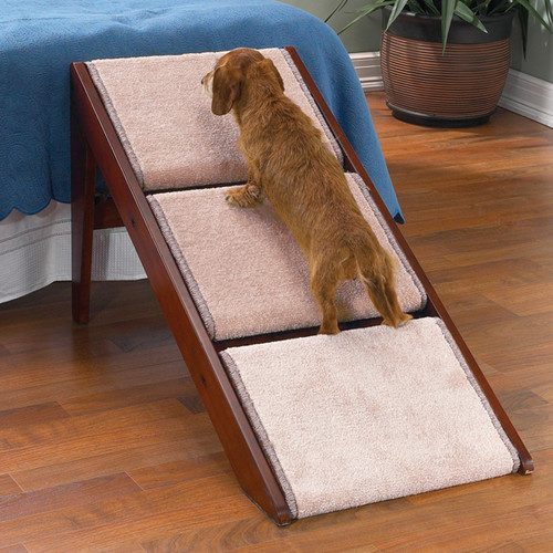 Pet Studio Pine Frame Dog RampSteps, 3 Step