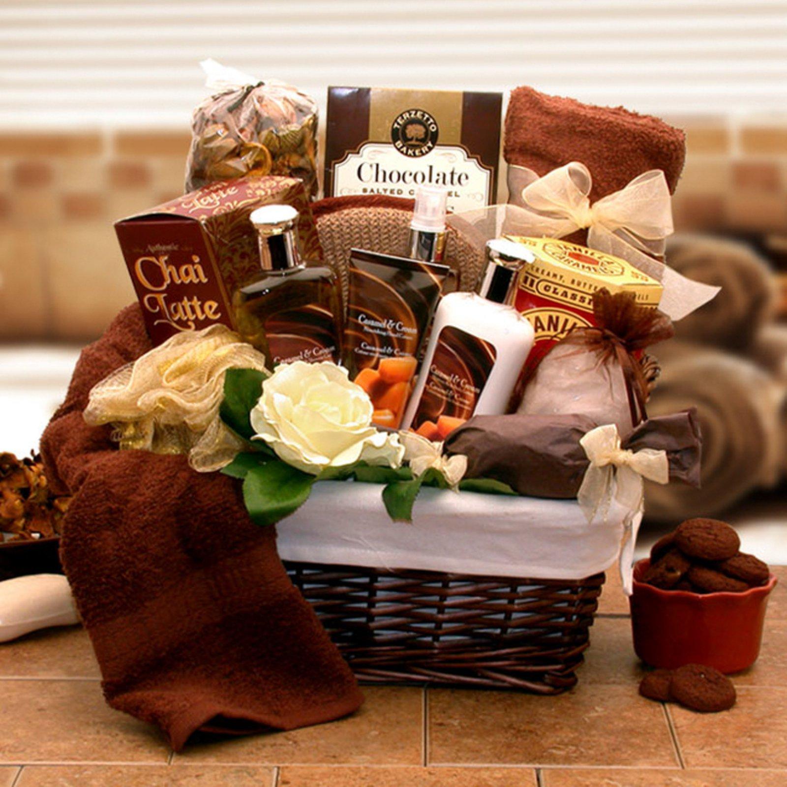 Gift Basket Drop Shipping Caramel Indulgence Spa Relaxation Hamper