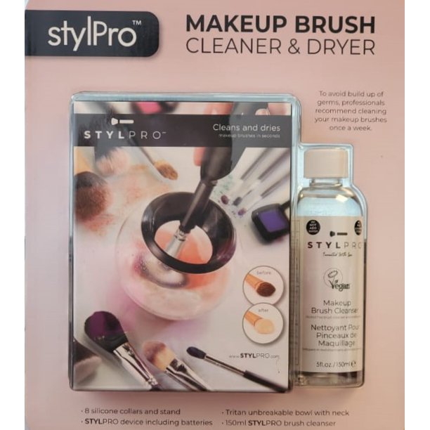 StylPro Makeup Brush Cleaner & Dryer with 8 Silicone ...