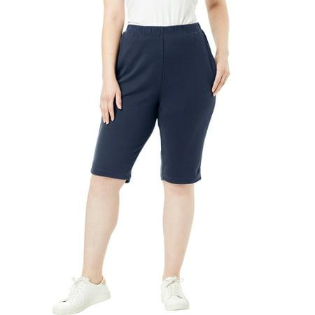 Roaman's Plus Size Soft Knit Bermuda Short