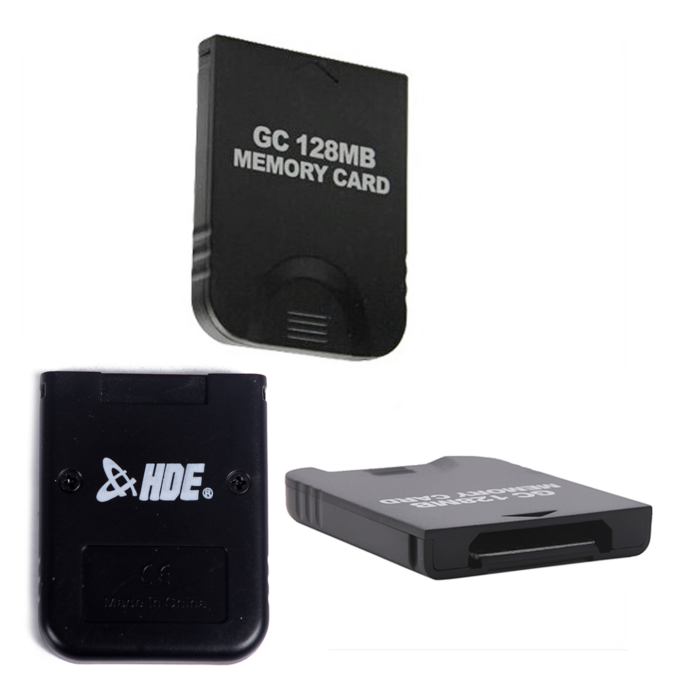GameCube Memory Card 128Mb (2048 Blocks) Storage Capacity Retro Video Game Accessory (Black)