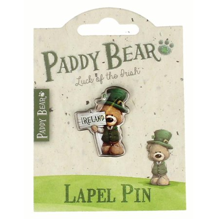 Paddy Bear Lapel Pin - Ireland