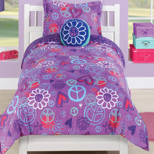 Beco Home Peace and Love 2 Piece Comforter Set