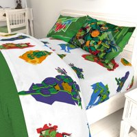 TMNT Ninja Night Kids Bed Sheet Set, Return of the Teenage Mutant Ninja Turtles
